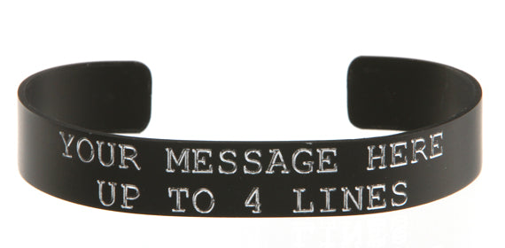 black anodized custom memorial kia bracelet