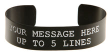 Load image into Gallery viewer, Black Anodized Custom Memorial Bracelet