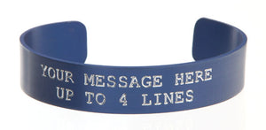Blue Anodized Custom Memorial Bracelet