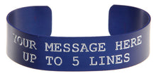 Load image into Gallery viewer, Blue Anodized Custom Memorial Bracelet