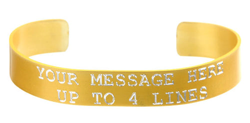Gold Anodized Custom Memorial Bracelet
