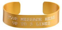 Load image into Gallery viewer, Gold Anodized Custom Memorial Bracelet
