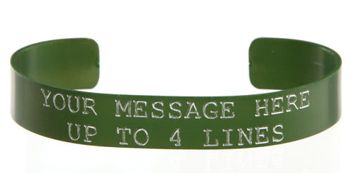 Green Anodized Custom Memorial Bracelet