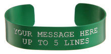 Load image into Gallery viewer, Green Anodized Custom Memorial Bracelet