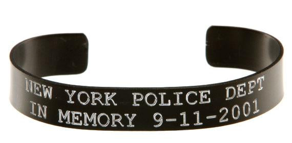 New York Police Dept - In Memory 911 Bracelet