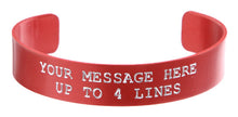 Load image into Gallery viewer, Pink Anodized Custom Memorial Bracelet