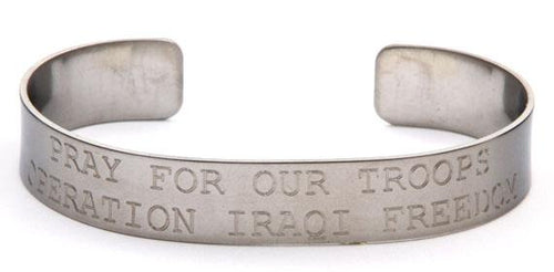 Pray for our Troops - Operation Iraqi Freedom Bracelet