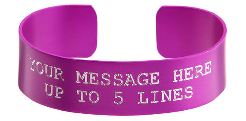 Purple Anodized Custom Memorial Bracelet