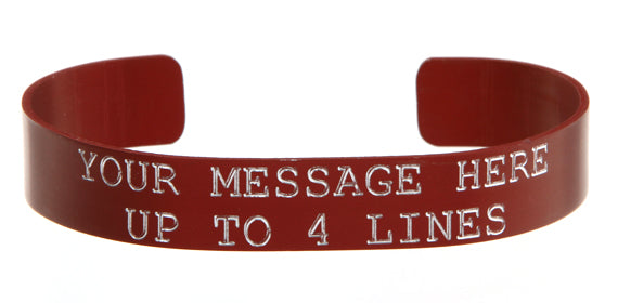 Red Anodized Custom Memorial Bracelet