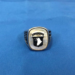 101st Airborne Ring (White Face)
