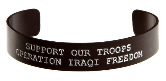 Support our Troops Operation Iraqi Freedom Bracelet