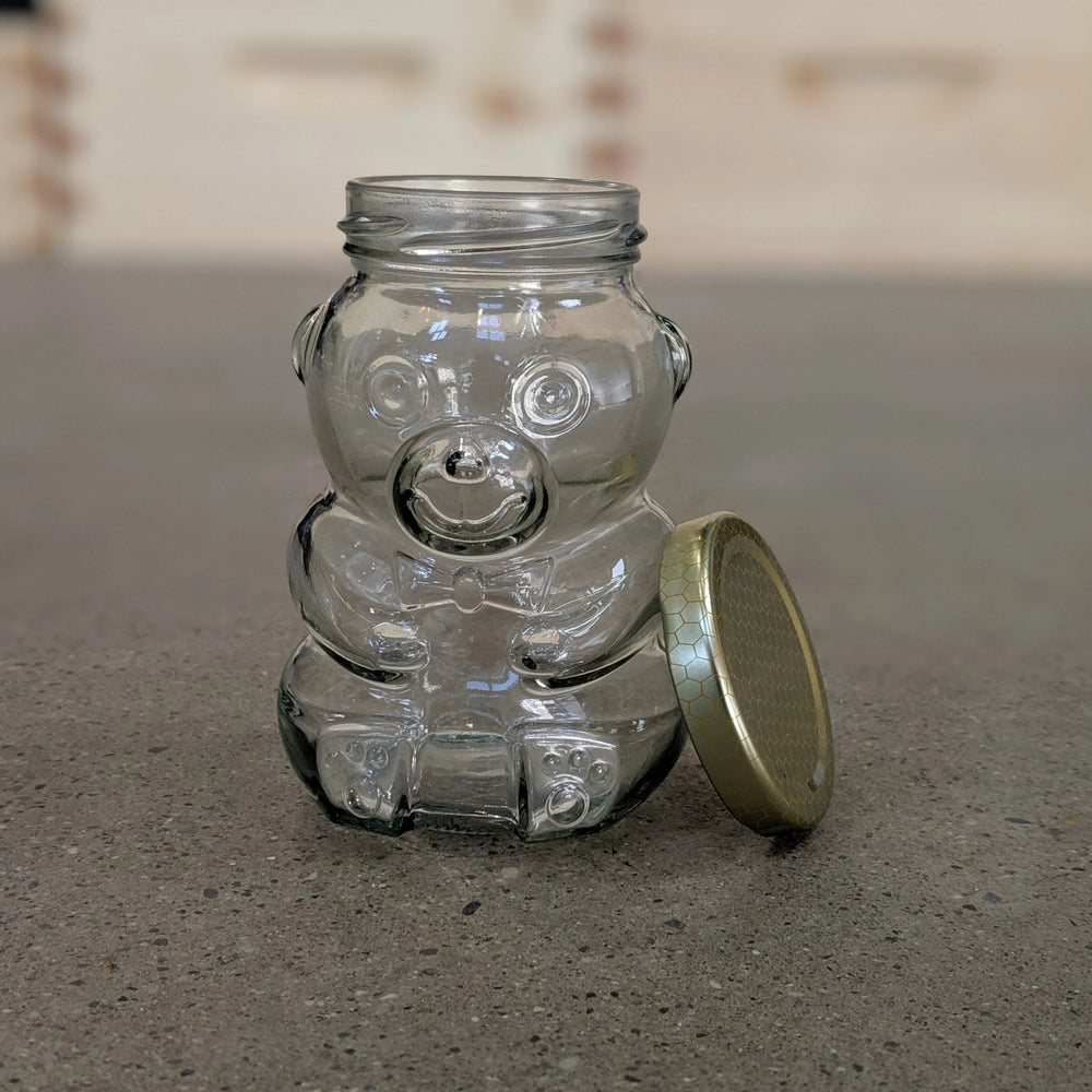 Glass Bear 280ml Jar