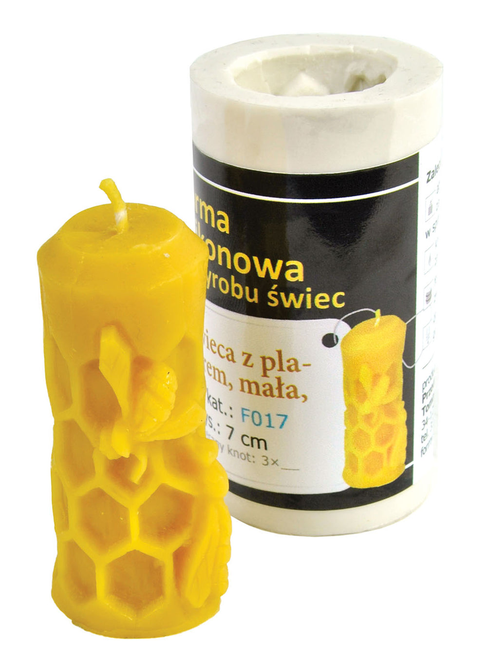 Candle with Honeycomb Candle Mold