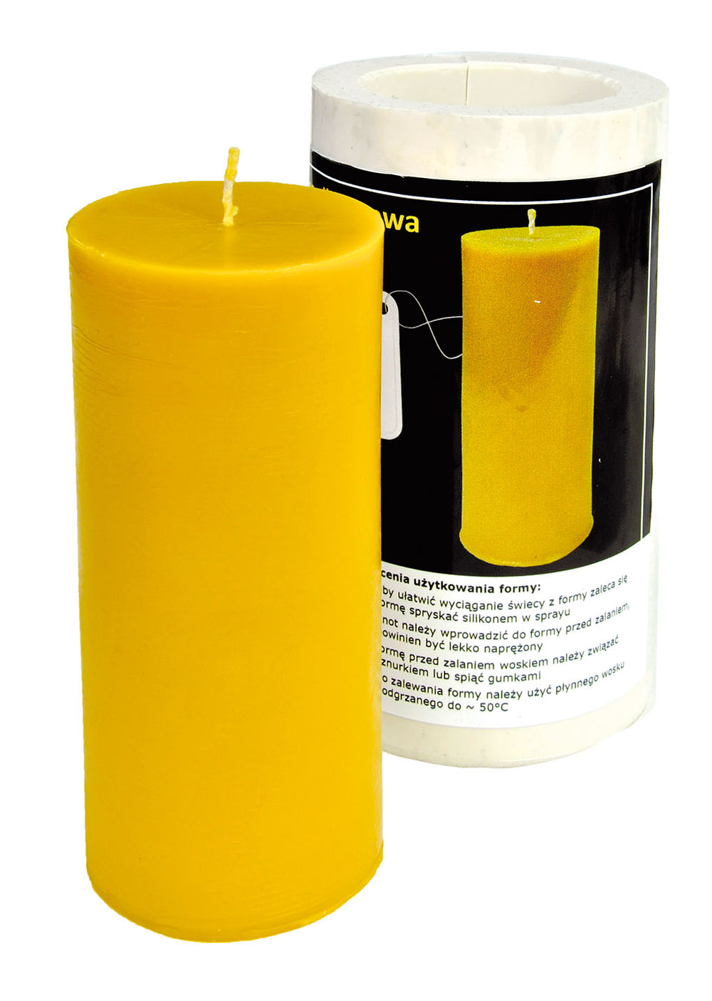 Smooth Cylinder Candle Mold