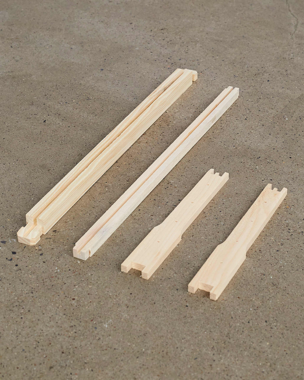 "9 1/8"" (Deep) Wood Frames - Groove Top and Bottom Bars"