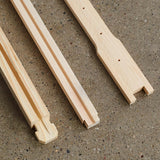 "6 1/4"" (Medium) Wood Frames - Groove Top and Bottom Bars"