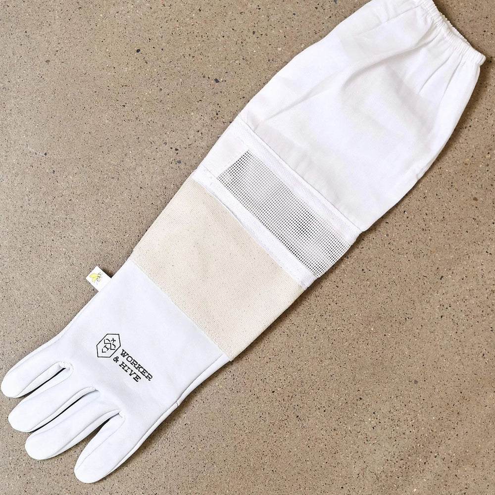 W & H Vented Beekeeping Gloves