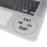 Eat Sleep Wrestle Sticker