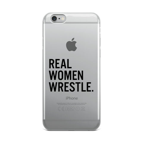 Real Women Wrestle iPhone Case - Lit Wrestling