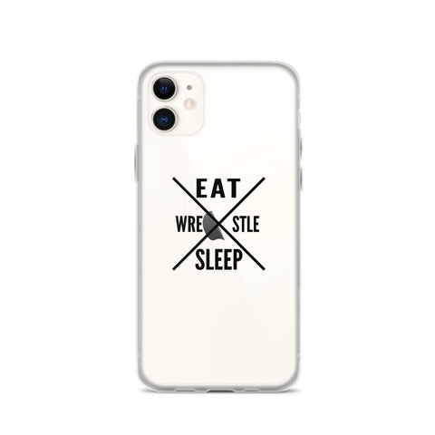 Eat Sleep Wrestle iPhone Case