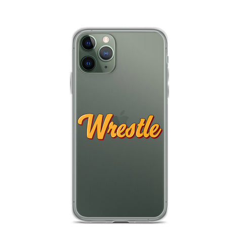 Retro Wrestle iPhone Case