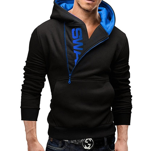 Autumn Fashion men Casual Slim letter printing head side zipper 6 color Cashmere sweater tops - JustRed.co.uk