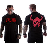 VIKING 2018 New Brand clothing Gyms Tight t-shirt mens fitness t-shirt homme Gyms t shirt men fitness Summer tops - JustRed.co.uk