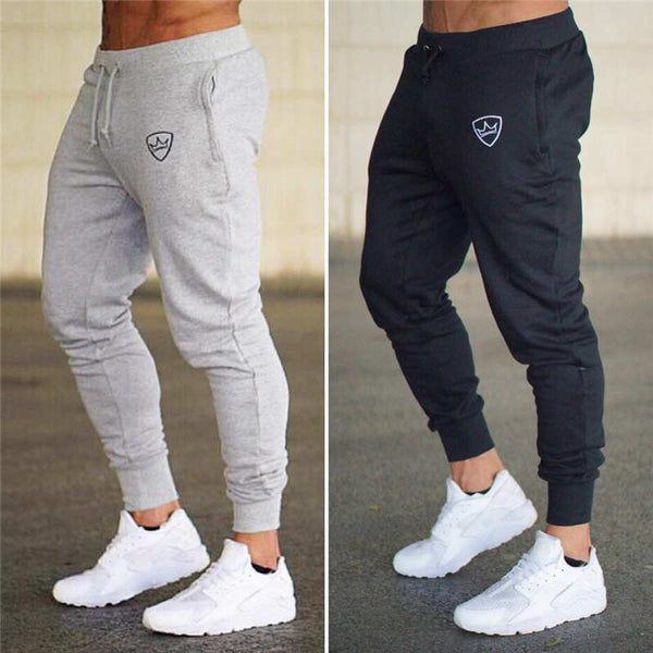 2018 summer New Fashion Thin section Pants Men Casual Trouser Jogger Bodybuilding Fitness Sweat Time limited Sweatpants - JustRed.co.uk