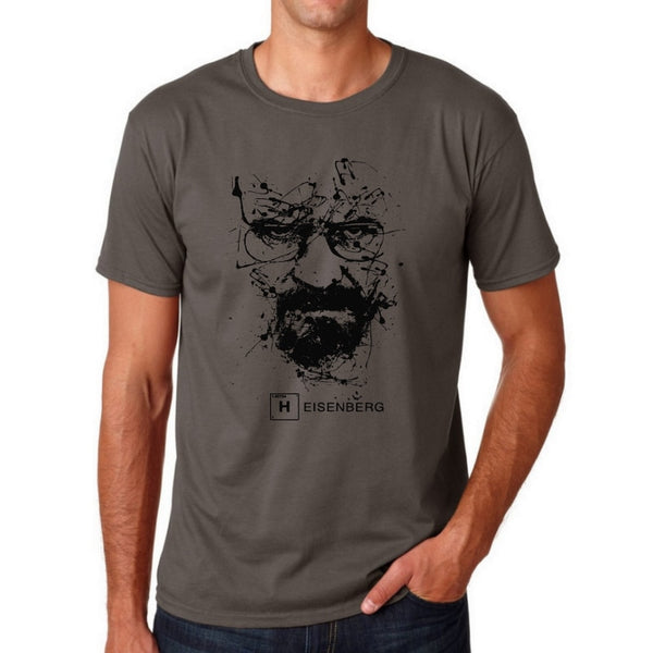 Top Quality Cotton heisenberg funny men t shirt casual short sleeve breaking bad print mens T-shirt Fashion cool T shirt for men - JustRed.co.uk