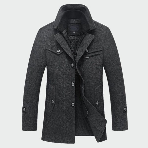 Winter Men's Thick Coats Slim Fit Jackets Casual Warm Outerwear Jacket and Coat Peacoat Men M-4XL - JustRed.co.uk