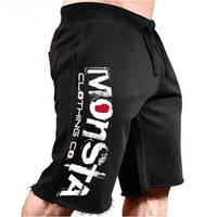 Men Cotton Shorts loose Trousers Fitness Bodybuilding Jogger durable Sweatpants Fitness Workout - JustRed.co.uk