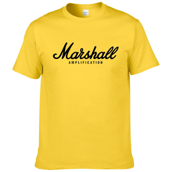 2017 hot sale summer 100% cotton Marshall t shirt men short sleeves tee hip hop streetwear for fans hipster XS-2XL #220 - JustRed.co.uk