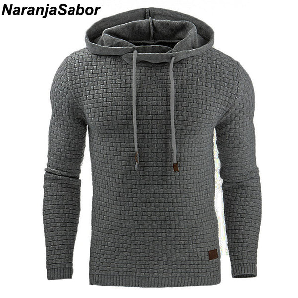 NaranjaSabor Autumn Men's Hoodies Slim Hooded Sweatshirts Coats Male Casual Sportswear Street wear