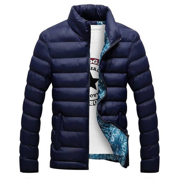 Winter Jacket Men 2019 Fashion Stand Collar Male Parka Jacket Mens Solid Thick Jackets and Coats Man Winter Parkas M-6XL - JustRed.co.uk