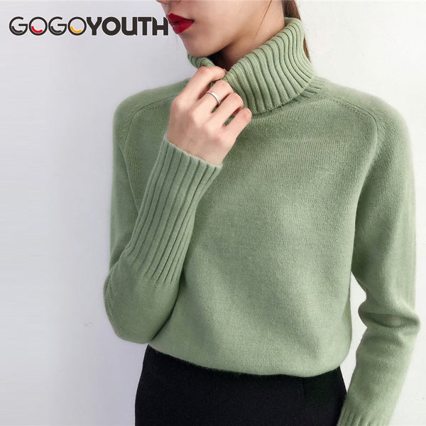 Gogoyouth Sweater Female 2019 Autumn Winter Cashmere Knitted Women Sweater And Pullover Female Tricot Jersey Jumper Pull Femme - JustRed.co.uk
