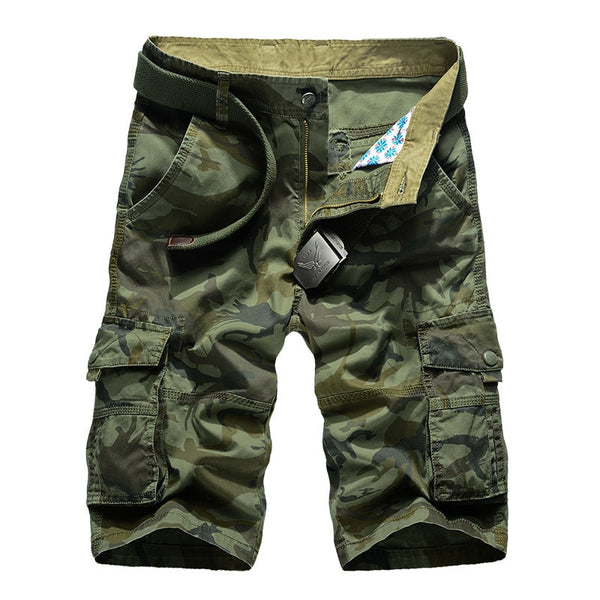 Men Casual Shorts Camouflage Camo Cargo Loose Work Military Pants Plus Size 29-44