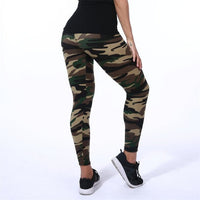 VISNXGI New Fashion 2019 Camouflage Printing Elasticity Leggings Camouflage Fitness Pant Legins Casual Milk Legging For Women - JustRed.co.uk