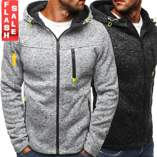 Men Sports Casual Wear Zipper Fashion Tide Hoodies Fleece Jacket Fall Sweatshirts Autumn Winter