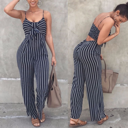 2019 Newest Fashion Hot Sexy Ladies Women Clubwear Playsuit Bodysuit Party Jumpsuit Romper High Quality Sleeveless Long Trousers - JustRed.co.uk