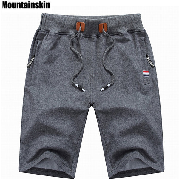 Mountainskin Men's Shorts 6XL Summer Mens Beach Shorts Cotton Casual homme Brand Clothing - JustRed.co.uk