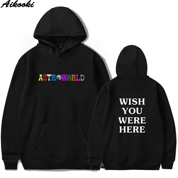 ASTROWORLD Hoodies Men/Women Sweatshirt Hip Hop Hooded Print Hoodies Sweatshirts Plus Size - JustRed.co.uk