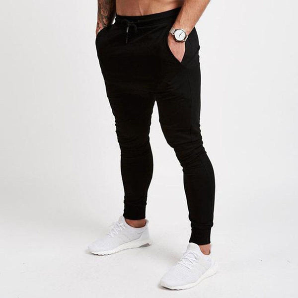 Mens Joggers Casual Pants Fitness Male Sportswear Tracksuit Bottoms Skinny Sweatpants Trousers Black Gyms Joggers Track Pants - JustRed.co.uk