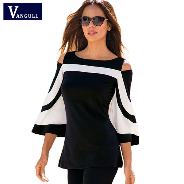 Spring & Summer woman Slim flare sleeve Europe style fashion casual long sleeve T-shirt
