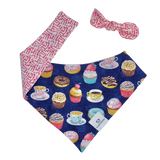 Blue Tea Party Bandana