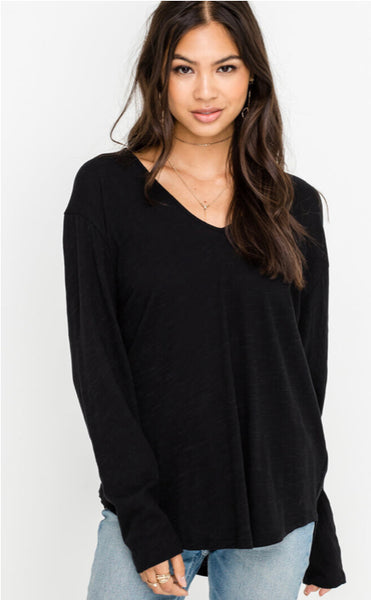 Long Sleeve Loose Tee - Poppy&Stitch