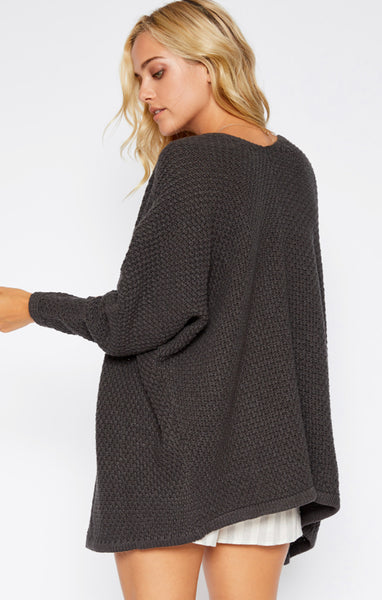 Callie Oversized Open-Front  Sweater - Poppy&Stitch