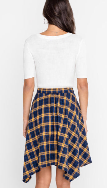 Not your Dads Plaid Skirt - Poppy&Stitch