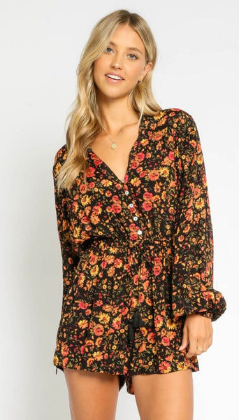 Autumn Button Down Romper