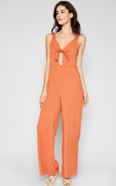 Sun Kissed Front Tie Jumpsuit - Poppy&Stitch