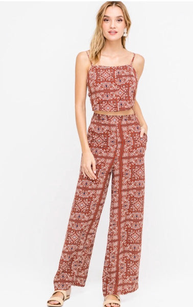 Moroccan Pocketed Palazzo Pants - Poppy&Stitch